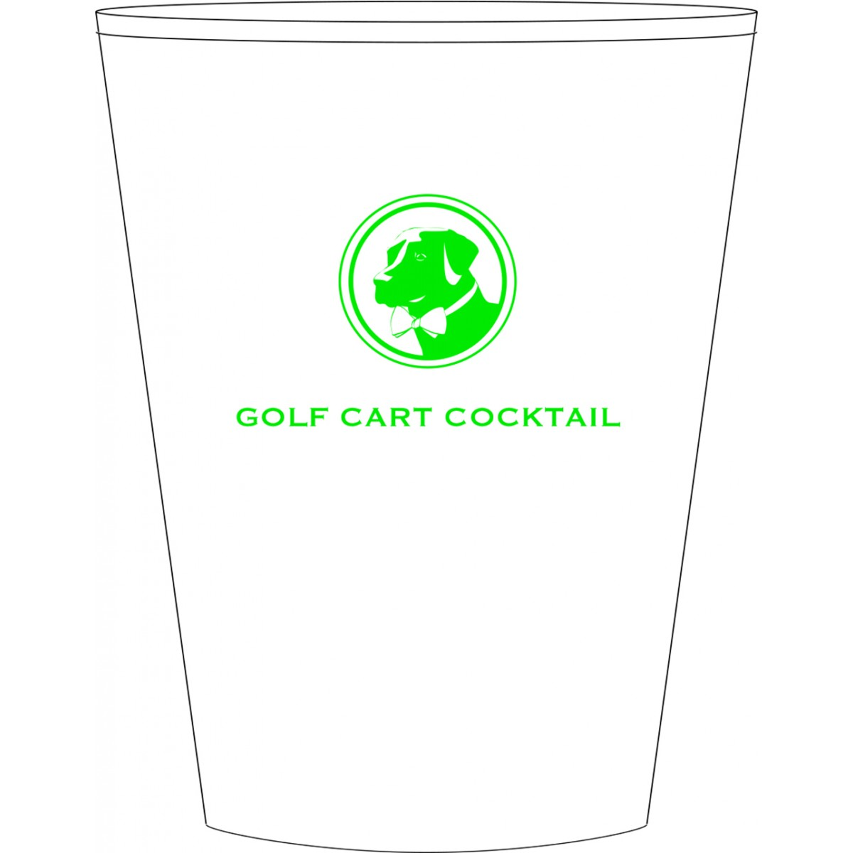 Golf Cart Cocktail Cup